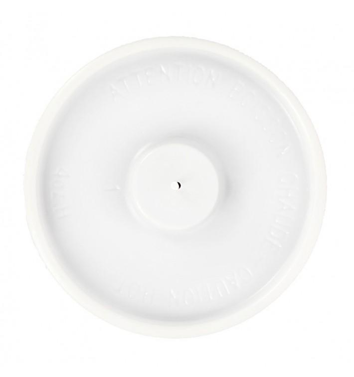 Weißer Deckel flach für Pappbecher 4 Oz/120ml Ø6,2cm (1.000 Stück)