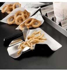 Schaufel Pommes 1 Henkel Rostfrei Silber 20x22,5x5 cm (1 Stück)