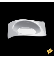 """Plastikteller """"Flat"""" weiß 8x6,6 cm (500 Stück)"""