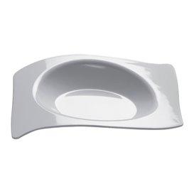 """Plastikteller """"Flat"""" weiß 8x6,6 cm (50 Stück)"""