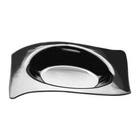 "Plastikteller ""Flat"" Schwarz 8x6,6 cm (500 Stück)"