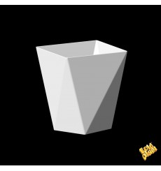 "Plastikbecher ""Diamond"" weiß 100 ml (500 Stück)"