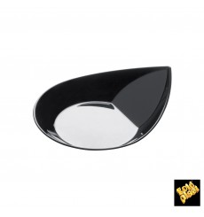 "Plastikteller ""Smart"" Schwarz 8,6x7,1 cm (50 Stück)"