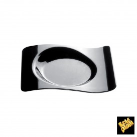"""Plastikteller """"Forma"""" Schwarz  8x6,6 cm (50 Stück)"""