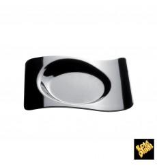 """Plastikteller """"Forma"""" Schwarz 8,0x6,6 cm (50 Stück)"""