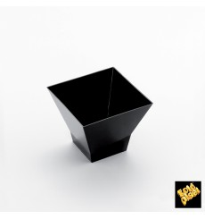 "Plastikbecher ""Pagoda"" Schwarz 120ml (500 Stück)"