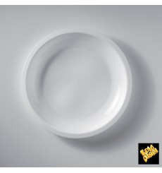 Plastikteller Flach Weiß Ø220mm (50 Stück)