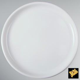 Plastikteller Rund für Pizza Weiß Ø350mm (12 Stück)