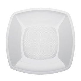 Plastikteller Glatt Weiß 230mm (150 Stück)