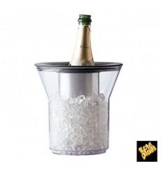 Thermosbehälter für Flaschen aus Plastik Transp. SMMA (1 Stück)
