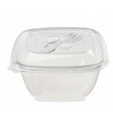 Salatschale aus Plastik Viereckig PET 250ml (500 Stück)