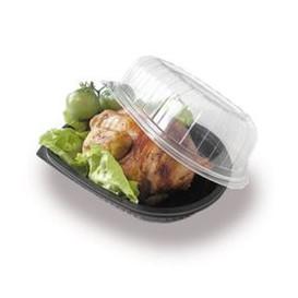 Plastikbehälter für Hähnchen mit Deckel (50 Stück)