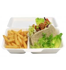 Burger-Box Zuckerrohr 18x12,5x7cm (600 Stück)
