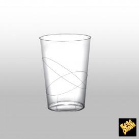 Becher aus Hartplastik Moon Transparent PS 230ml (500 Stück)