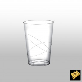 Becher aus Hartplastik Moon Transparent PS 230ml (50 Stück)