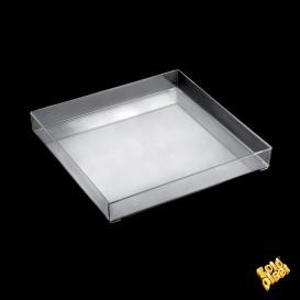 Plastiktablett Präsentation Tray Transp. 30x30cm (9 Stück)