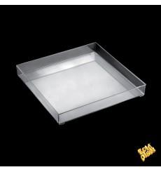 Plastiktablett Präsentation Tray Transp. Ø32cm (9 Stück)