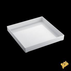 Plastiktablett Präsentation Tray Weiß 30x30cm (9 Stück)