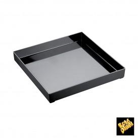 Plastiktablett Präsentation Tray Schwarz 30x30cm (9 Stück)