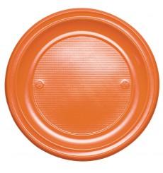 Plastikteller flach Orange PS 220mm (780 Stück)