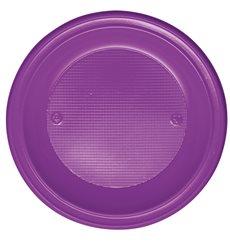 Plastikteller Tief Violett PS 220mm (30 Stück)