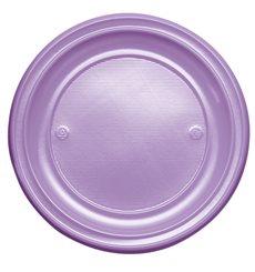 Plastikteller Flach Violett PS 220mm (30 Stück)