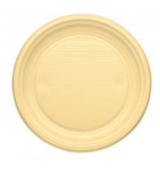 Plastikteller flach Creme PS 170mm (50 Stück)