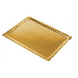 Pappschale rechteckig gold 22x28cm (100 Stück)