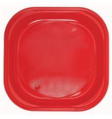 Plastikteller Platz flach Schwarz PS 170mm (30 Stück)