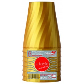 "Plastikbecher PP ""X-Table"" Gold 320ml (8 Stück)"