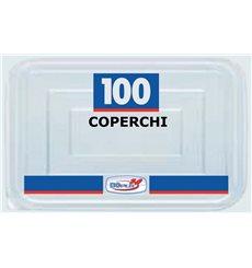 Plastikdeckel Transparent für Servierplatten 127x91x42mm (100 Stück)