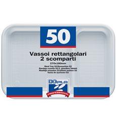Servierplatten Weiß 2-Geteilt 270x180mm (50 Stück)