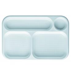 Servierplatten Weiß 4-Geteilt 360x240mm (300 Stück)