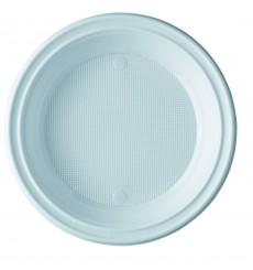 Plastikteller flach weiß 205mm (100 Einh.)