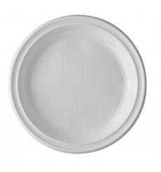 Plastikteller flach weiß 220 mm (100 Einh.)