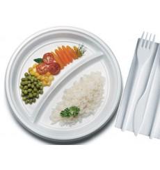 Plastikteller flach weiß PS 220 mm (1400 Einh.)