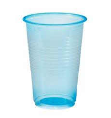 Plastikbecher Blau Transparent PP 230ml (100 Stück)