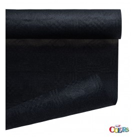 Rolle Papiertischdecke Schwarz 1,2x7m (1 Stück)