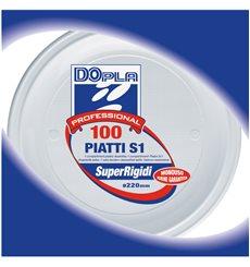 Plastikteller weiß PS 220 mm (100 Einh.)