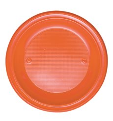 Plastikteller PS Tief Orange Ø220mm (600 Stück)