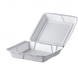 Verpackung EPS Menübox Weiß 240x235mm (100 Stück)