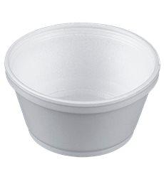 Styroporschale weiß 8OZ/240ml Ø108mm (1000 Stück)