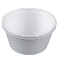 Styroporschale weiß 8OZ/240ml Ø108mm (50 Stück)