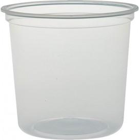 """Plastikbehälter PP """"Deli"""" 24Oz/710ml Transp. Ø120mm (500 Stück)"""