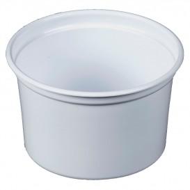 "Plastikbehälter PP ""Deli"" 16Oz/473ml Weiß Ø120mm (25 Stück)"