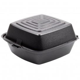 Burger-Box Styropor Schwarz 150x150x80mm (125 Stück)
