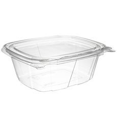 Plastikbehälter PET Unverletzlich Deckel Flach 355ml (100 Stück)