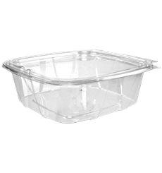 Plastikbehälter PET Unverletzlich Deckel Flach 1420ml (100 Stück)