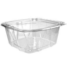Plastikbehälter PET Unverletzlich Deckel Flach 1893ml (100 Stück)