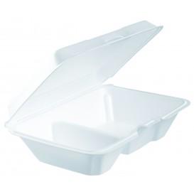 Verpackung EPS LunchBox 2-Geteilt Weiß 230x160mm (200 Stück)